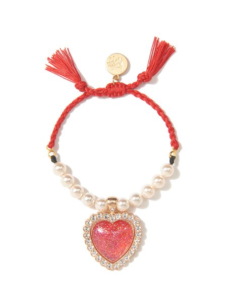SHOW ME LOVE PEARL BRACELET (RED)