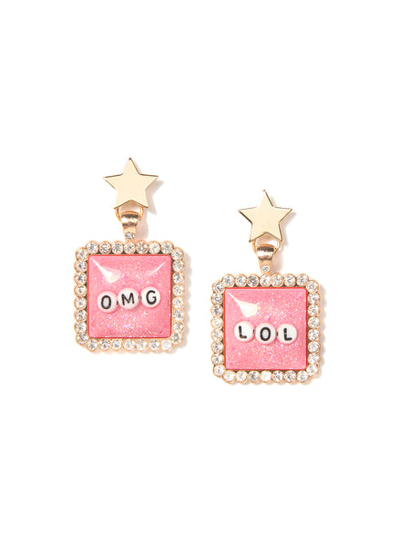 OMG/LOL EARRINGS