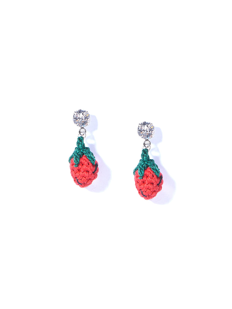 MINI STRAWBERRY EARRINGS