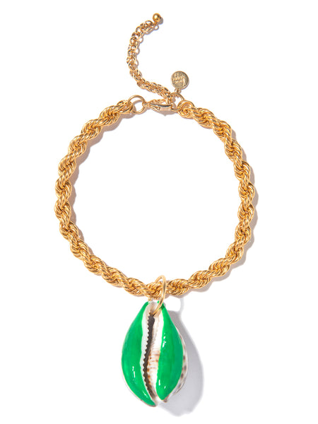 SUGAR SHELL NECKLACE (GREEN)