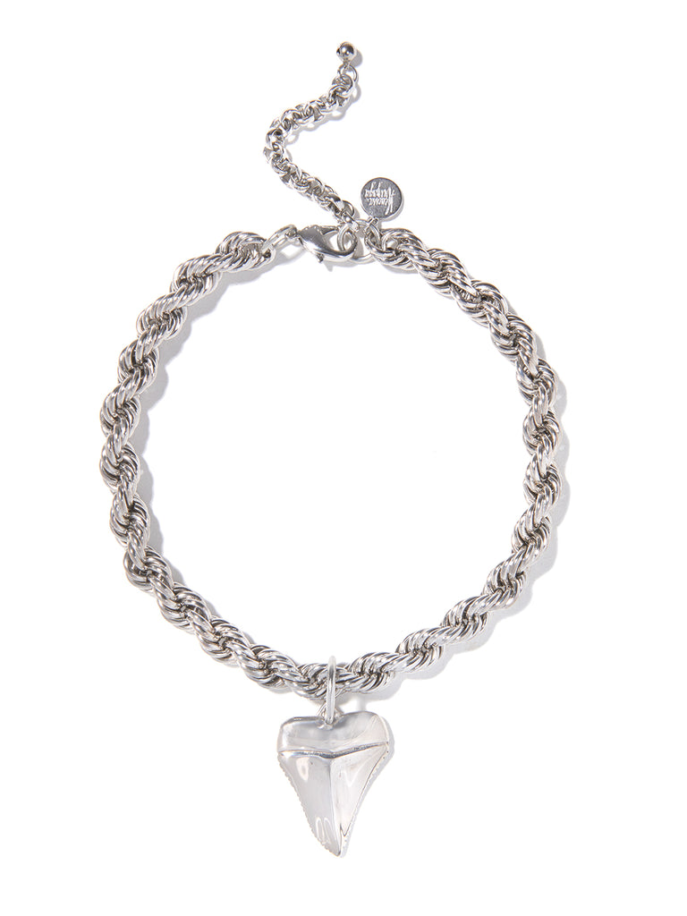 SHARK NIGHT NECKLACE (SILVER)