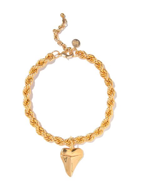 SHARK NIGHT NECKLACE (GOLD)