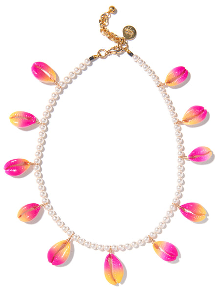 SUMMER SHELLS PEARL NECKLACE