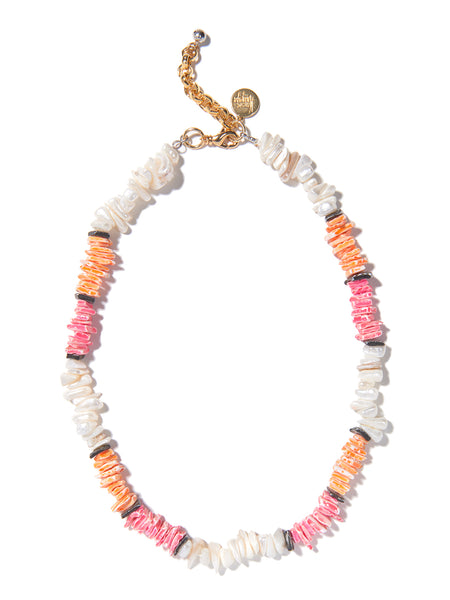BEAUTIFUL SUMMER NECKLACE (PINK AND ORANGE)