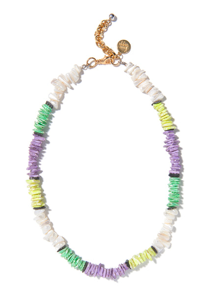 BEAUTIFUL SUMMER NECKLACE (GREEN AND PURPLE)