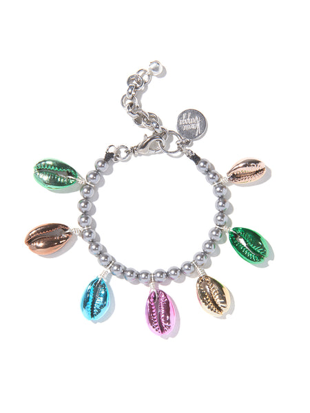 RAINBOW METALLIC SHELL PEARL BRACELET