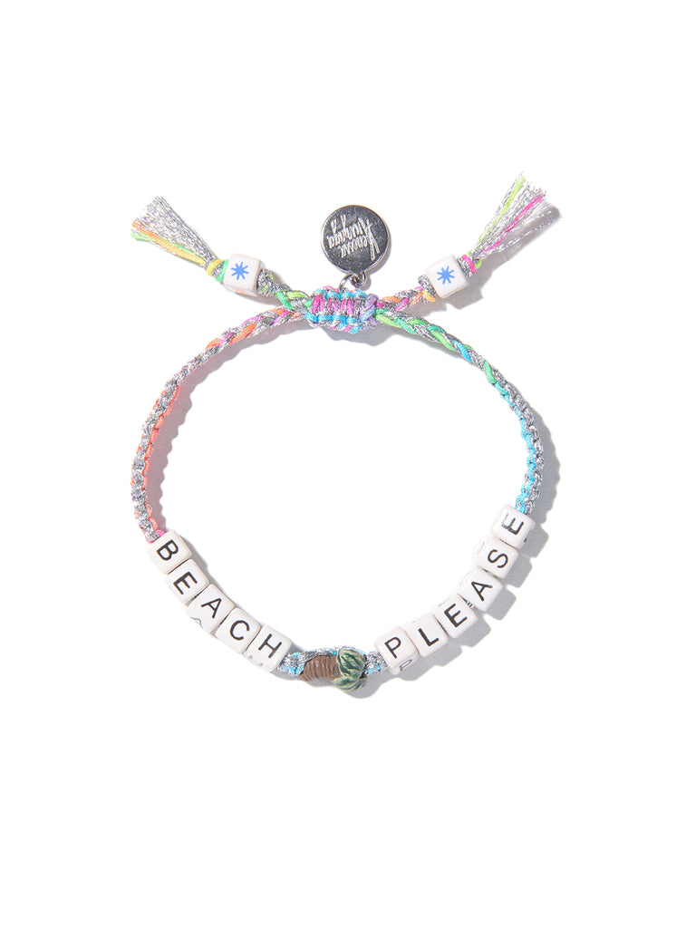 BEACH PLEASE BRACELET (SILVER RAINBOW)