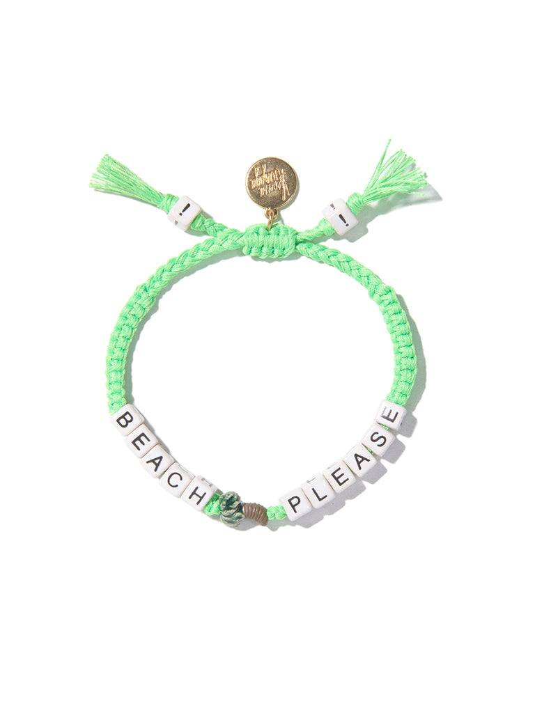 BEACH PLEASE BRACELET (NEON GREEN)