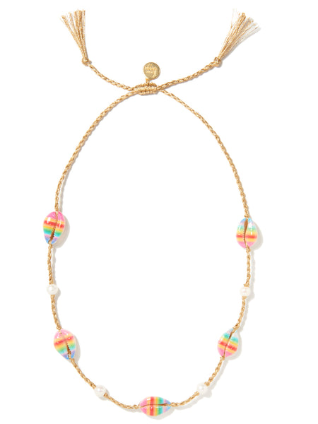 MOONLIGHT BEACH NECKLACE (RAINBOW STRIPE)
