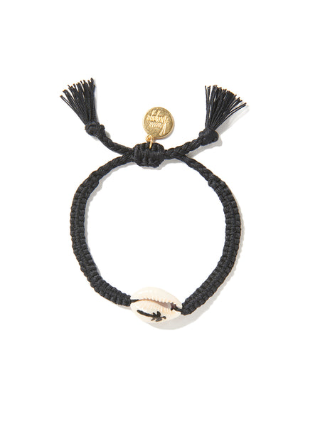 PALM TREE SHELL BRACELET (BLACK)