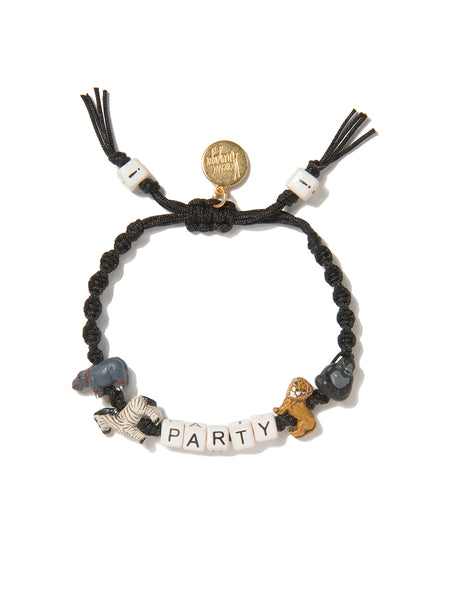 PARTY ANIMALS BRACELET (BLACK)