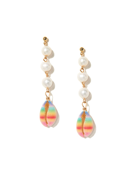 MOONLIGHT BEACH EARRINGS (RAINBOW STRIPE)
