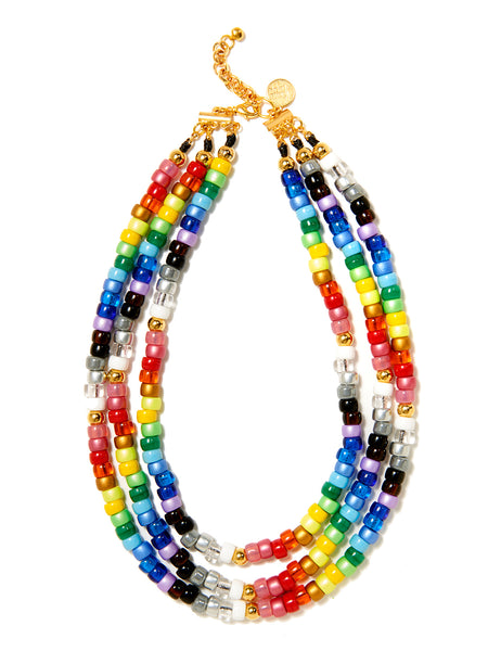 TRIPLE RAINBOW LANE NECKLACE