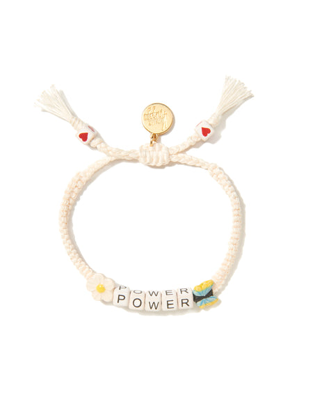 FLOWER POWER BRACELET (WHITE)
