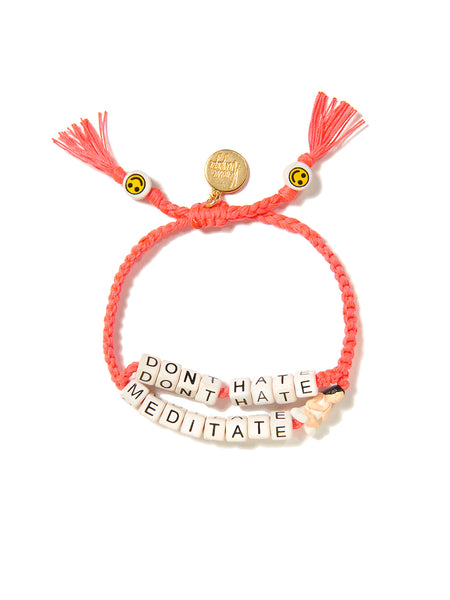 DON'T HATE, MEDITATE BRACELET