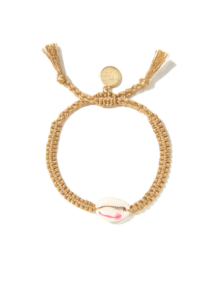 PALM TREE SHELL BRACELET (GOLD)