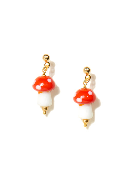 I LOVE MUSHROOMS EARRINGS