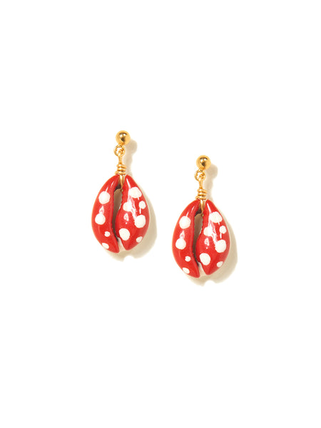 MUSHROOM SHELL EARRINGS