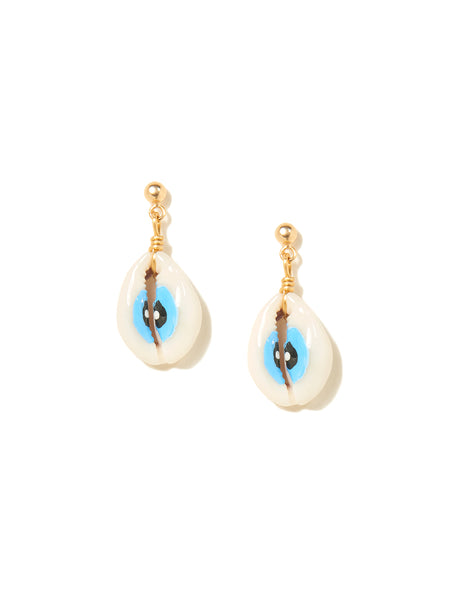 SHELL EYES EARRINGS