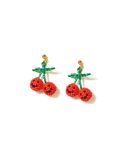 HAPPY CHERRIES EARRINGS (RED)