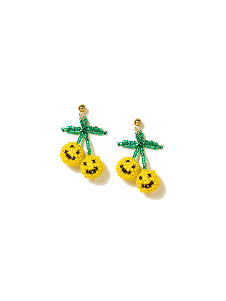 HAPPY CHERRIES EARRINGS (YELLOW)