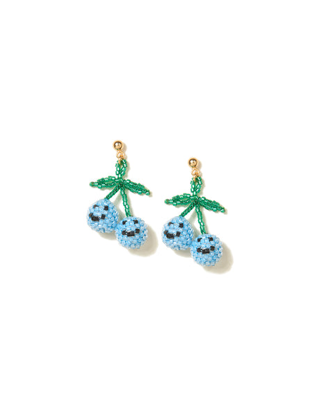 HAPPY CHERRIES EARRINGS (BLUE)