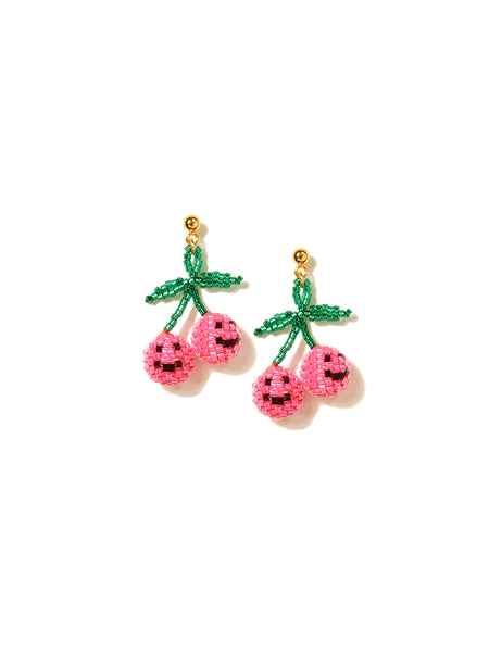 HAPPY CHERRIES EARRINGS (PINK)