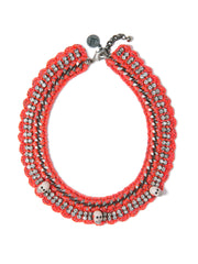 SCARLET BEGONIAS NECKLACE NECKLACE - Venessa Arizaga