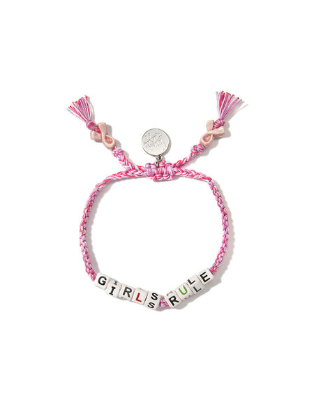 GIRLS RULE BRACELET (PINK)