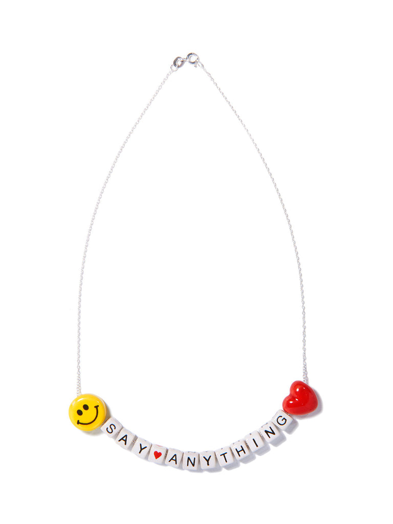 """SAY ANYTHING"" CUSTOM NECKLACE"