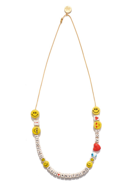 """SAY ANYTHING"" DIY NECKLACE KIT (ALL SMILES ON ME)"