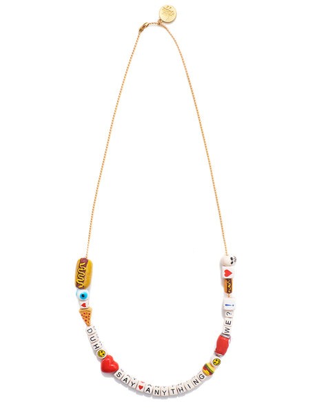 """SAY ANYTHING"" DIY NECKLACE KIT (SNACK ATTACK)"