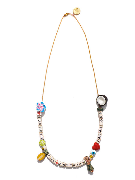 """SAY ANYTHING"" DIY NECKLACE KIT (TROPICAL VACATION)"