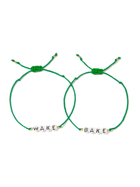 WAKE AND BAKE BRACELET SET