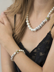 QUEEN BEE PEARL NECKLACE NECKLACE - Venessa Arizaga