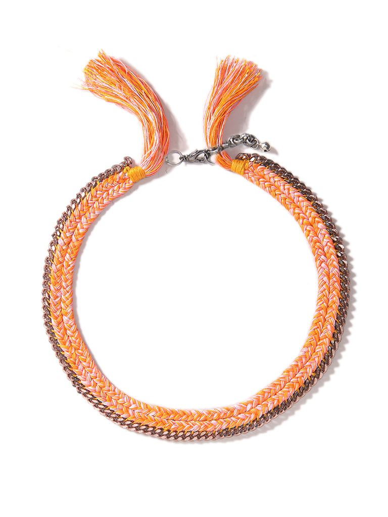 JUICY FRUIT NECKLACE (ORANGE)