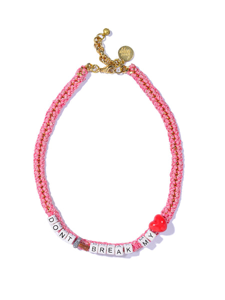 DON'T BREAK MY HEART NECKLACE (PINK)