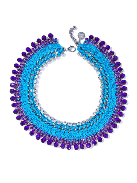 TWINKLE TWINKLE NECKLACE (BLUE AND PURPLE)