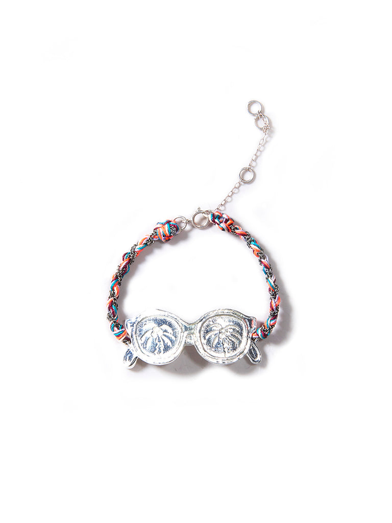 SHADY PALM TREE BRACELET (SILVER RAINBOW)