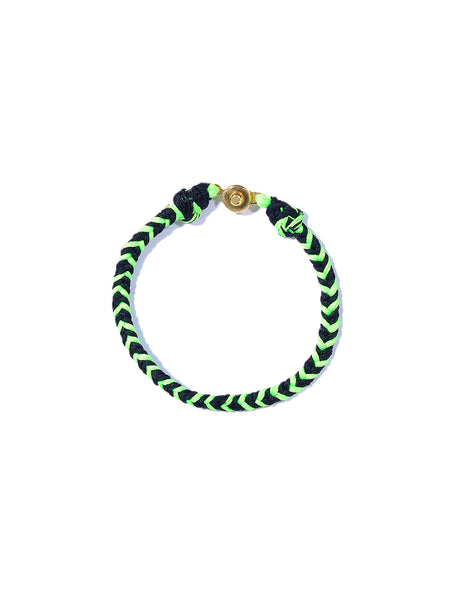 BRAIDED BRACELET (NEON GREEN AND BLACK)