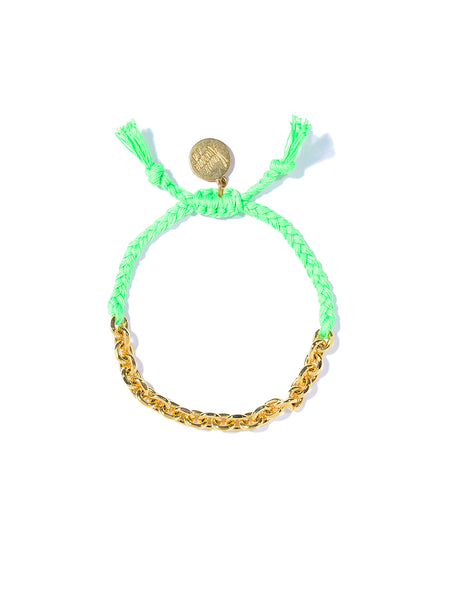 CHAIN GANG BRACELET (NEON GREEN)