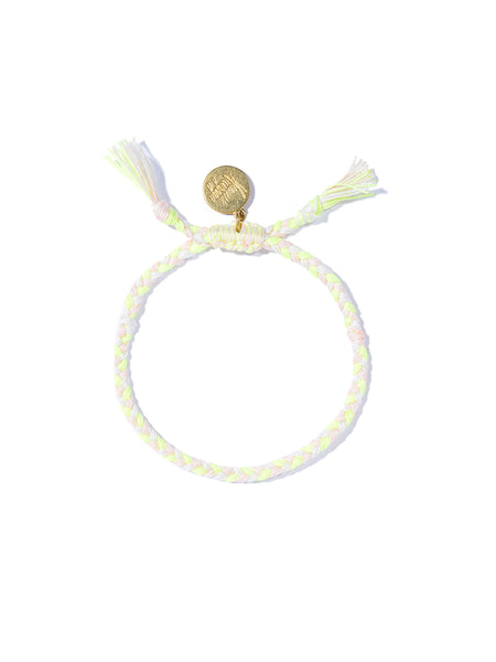 PRETTY SAVAGE BRACELET (WHITE AND NEON YELLOW)