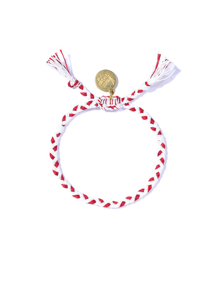 PRETTY SAVAGE BRACELET (WHITE AND RED)