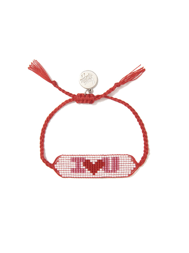I LOVE YOU BRACELET (RED) BRACELET - Venessa Arizaga