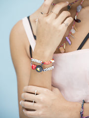 GIVE PEACE A CHANCE FRIENDSHIP CUFF BRACELET - Venessa Arizaga