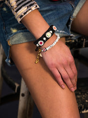 THAT'S HOW I ROLL PEARL BRACELET BRACELET - Venessa Arizaga
