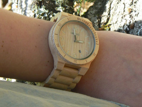 WeWood Alpha Beige wooden watch Greenlife Online