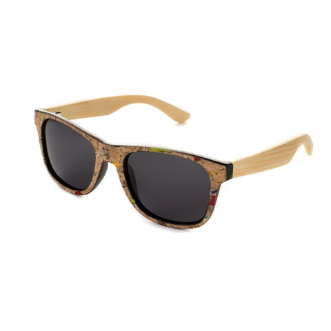 Blue Planet Recycled Sunglasses - Black Cork & Bamboo