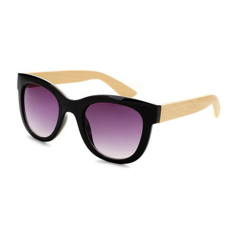 Blue Planet Recycled Sunglasses - Mariposa Black/Purple & Bamboo