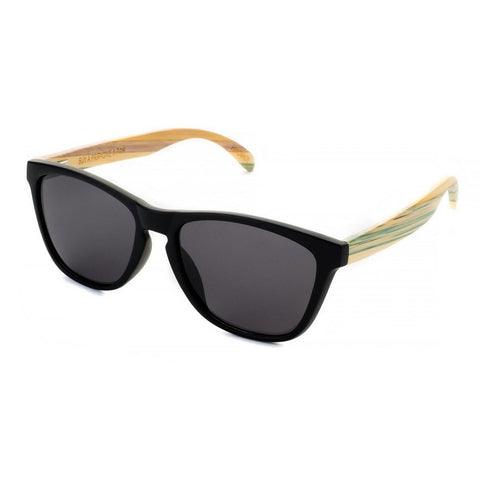 Blue Planet Recycled Sunglasses Rincon Black Bamboo